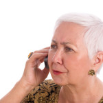 Worried Senior Woman Talking